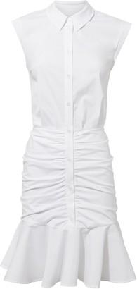Veronica Beard Bell Ruched Shirt Dress