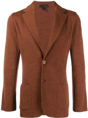 Lardini fitted single breasted blazer