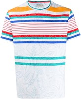 Etro striped paisley patterned T-shirt