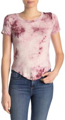 Blvd Tie Dye Rounded Hem T-Shirt
