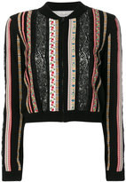 Alice + Olivia Alice+Olivia cropped embroidered jacket