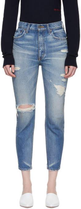 Moussy Vintage Blue Powell Boy Skinny Jeans