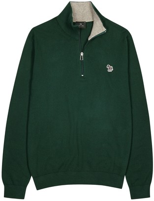 Paul Smith Green cotton-blend jumper