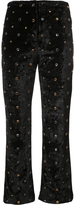 Sonia Rykiel Velour Studded Cropped Trousers
