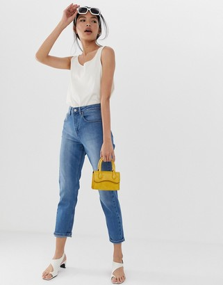 Northmore Denim organic cotton super high-waist mom jean-Blue