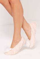 Missguided Pom Pom Ballerina Slippers Cream