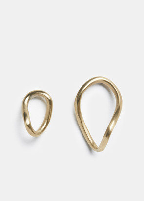 8.6.4 / Stud Twisted Hoop Earrings
