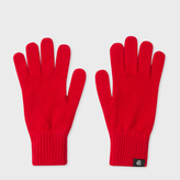 Paul Smith Women's Red Lambswool Gloves