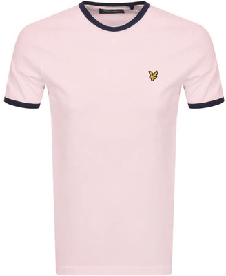 Lyle & Scott Ringer Crew Neck T Shirt Pink