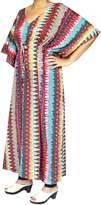 Maple Clothing Printed Womens Caftan Tunic Beach Dress