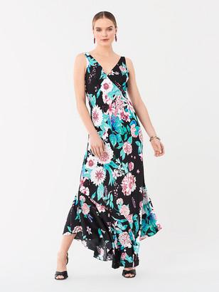 Diane von Furstenberg Florain Jacquard Asymmetrical Gown
