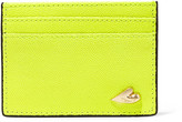 Diane von Furstenberg Love Tuxedo neon textured-leather cardholder