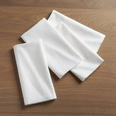 Crate & Barrel White Cloth Dinner Napkins, Set of 4