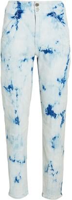 Veronica Beard Kallie High-Rise Tie-Dye Jeans