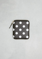 Comme des Garcons Black Dots Print Leather Line Wallet