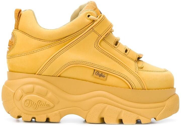 Buffalo London Classic Boots Shoes Plateau CLASSICS LEDER SCHWARZ-WEISS