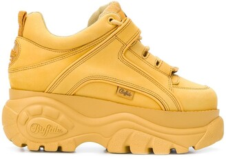 Buffalo David Bitton Tan 1339 classic platform sneakers