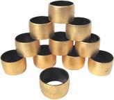 One Kings Lane Vintage Gilt Lacquer Napkin Rings, S/11