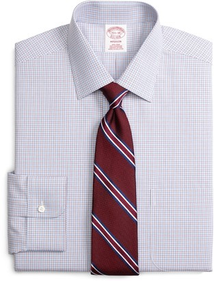 Brooks Brothers Madison Classic-Fit Dress Shirt, Non-Iron Hairline Framed Check