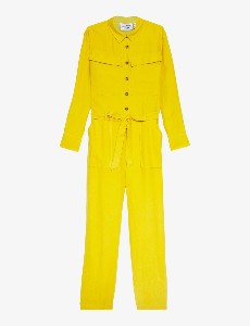 Another Label Another-Label - Celesta Jumpsuit Lemon Curry - Extra Small (XS) | yellow ochre - Yellow ochre