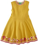 Little Green Radicals Flower Knitted Dress (Toddler/Kid) - Gold-2-3 Years