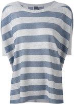 Lorena Antoniazzi striped shortsleeved sweater - women - Viscose/Polyester - 38