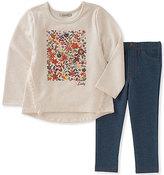 Lucky Brand Beige Floral Tunic & Leggings - Infant, Toddler & Girls