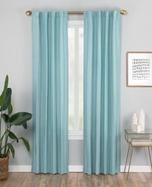 "Vue Elements Vaughan 42"" x 84"" Textured Stripe Curtain Panel"