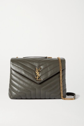 Saint Laurent Loulou Medium Quilted Leather Shoulder Bag - Dark gray