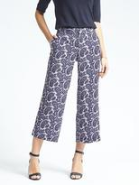Banana Republic Blake-Fit Paisley Wide-Leg Crop Pant