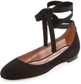 Tabitha Simmons Daria Suede Ankle-Wrap Flat