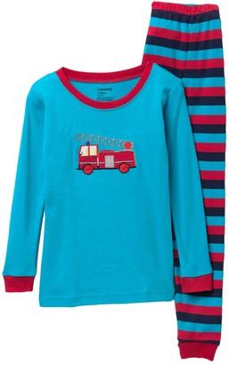 Leveret Fire Truck Pajama Set (Toddler, Little Boys, & Big Boys)