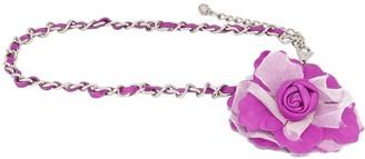 Dolce & Gabbana Interwoven Chain Floral Applique Belt