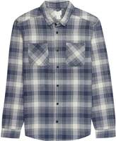 RVCA Neutral Plaid Long-Sleeve Flannel Shirt