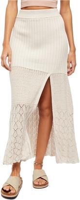 Free People Bari Knit Column Maxi Skirt