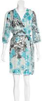 Diane von Furstenberg Autumn Metallic Wrap Dress
