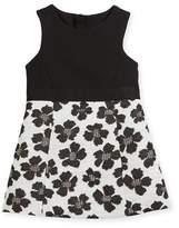 Milly Minis Metallic Jacquard Panel Dress, Size 8-14