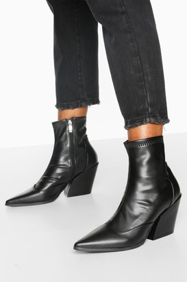 boohoo Pointed Western Boots