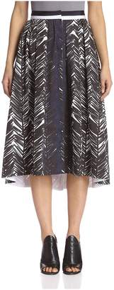 Beatrice. B Women's Printed Button-Front Skirt
