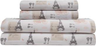 Elite Whimsical Print Paris Postale Sheet Set