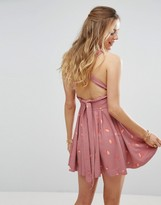 Free People Mini's For You Open Back Tea Dress