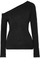 James Perse Off-the-shoulder Cashmere Sweater - Black