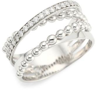 Hueb 18K White Gold & Diamond Pave Ring