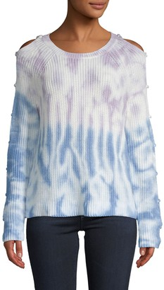 360 Sweater Soleil Ladder Sleeve Tie-Dyed Sweater