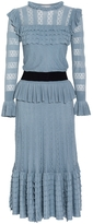 Temperley London Cypre Pointelle Frill Dress