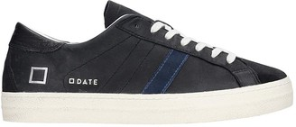 D.A.T.E Hill Low Sneakers In Black Suede And Leather