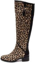 Django & Juliette Tamiladj Ocelot-black Boots Womens Shoes Casual Long Boots