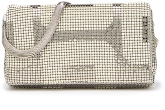 Whiting & Davis Metal Mesh Geo Pyramid Roll Clutch