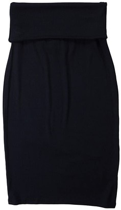 LAmade Triny 2x1 Modal Stretch Rib Skirt (Black) Women's Skirt