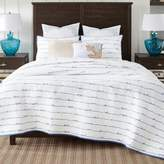 Coastal Living® Sand Script Twin Quilt Set in Blue